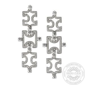 Earrings Puzzle Openwork