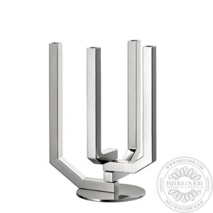 4 arms Articulated Candelabra Stainless Steel  43,9 cm