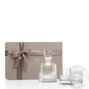 Gift box with a crystal Whisky decanter