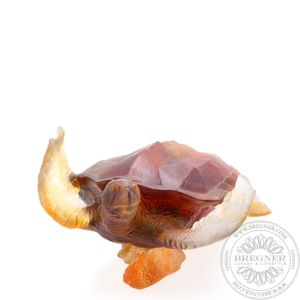 Large amber grey sea turtle 25 cm