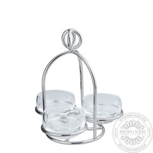 Snack server 3 small dishes 15,5 cm