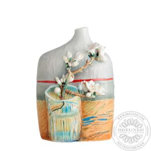 Blossoming Almond Branch in a Glass vase 32 cm