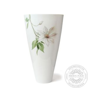 Vase Oval - clematis, white