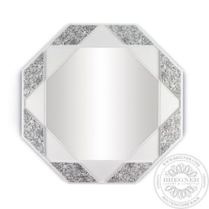 Eight Sided Mirror (Black & White)