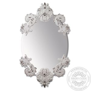 Oval Mirror Without Frame (White/Silver)