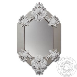Eight Sided Mirror (White / Silver)