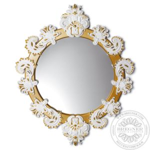 Round Mirror Small (White / Gold)