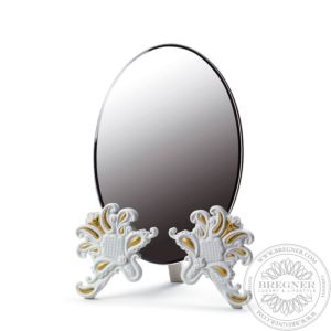 Vanity Mirror (White / Gold)