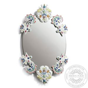 Oval Mirror Without Frame (Multicolor)