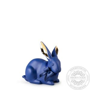 Attentive Bunny. Blue-Gold