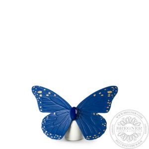 Butterfly Figurine. Golden Luster & Blue