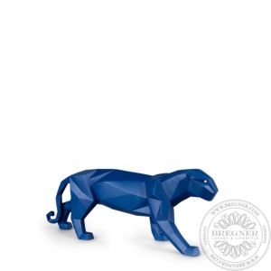 Panther Figurine. Blue matte