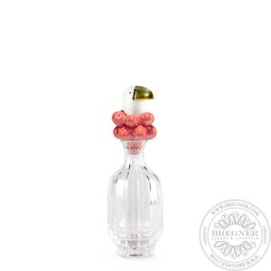 Toucan Glass Bottle. Golden Luster