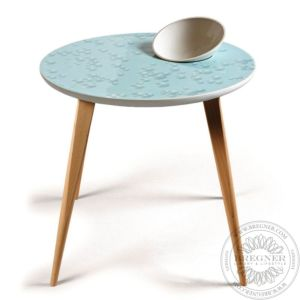 Crystal Moment Table. With bowl. Oak