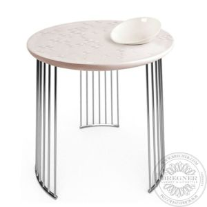 Frost Moment Table. With bowl. Chrome metal