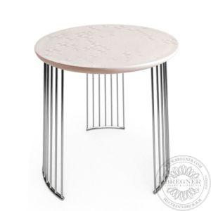Frost Moment Table. Chrome metal