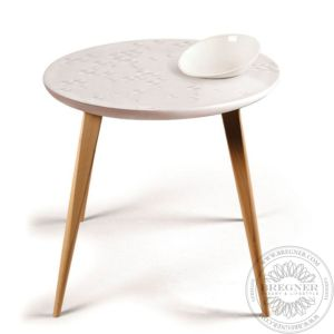 Frost Moment Table. With bowl. Oak