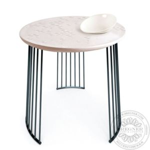 Frost Moment Table. With bowl. Black metal