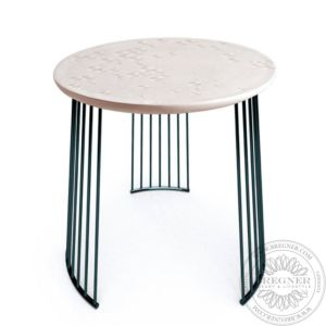 Frost Moment Table. Black metal
