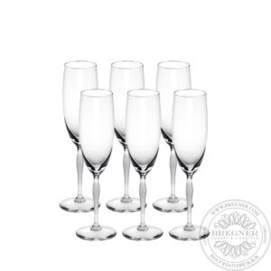 Set of 6 Champagne glasses 100 POINTS
