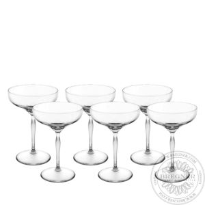 Set of 6 Champagne coupes 100 POINTS