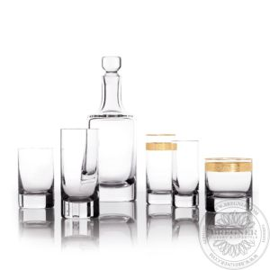 Whisky Set Gold Band