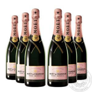 Champagner Rosé Impérial in Geschenkpackung, Set 6x0,75L