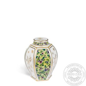 "Tea caddy with ""Fanciful flowers and butterflies"" 14,5 cm"