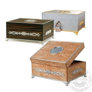 Humidors Silver Gilded