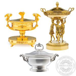 Soup tureen Silver Gilded