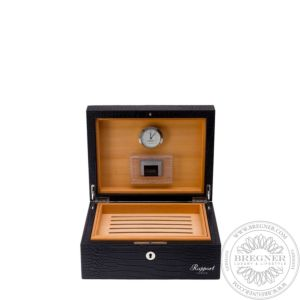 Small Leather Humidor (50 Cigars), Black