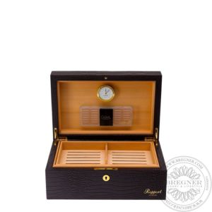 Medium Leather Humidor (100 Cigars), Brown