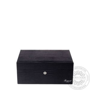 Large Leather Humidor (150 Cigars), Black