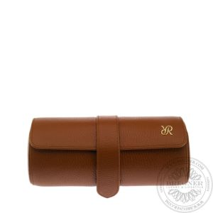 Tan Three Watch Roll