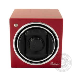 Evo Cube Watch Winder Crimson Red