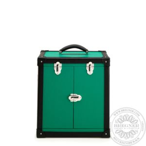Deluxe Jewellery Trunk, Green Leather