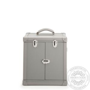 Deluxe Jewellery Trunk, Grey Leather