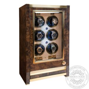 Paramount Aged Walnut Six Watch Cabinet