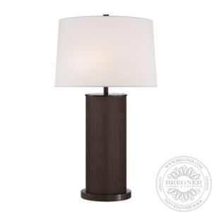 Beckford Xl Table Lamp In Bronze Grasscloth With Linen Shade