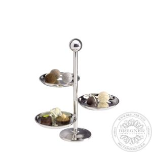 """""""Various"""" Dish stand with 3 adjustable dishes 24,5 cm"""