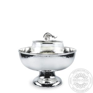 Caviar Bowl footed hammered 19 cm