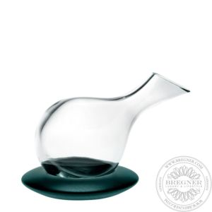 Case with Decanter with Dark Wood Base 27,5 cm