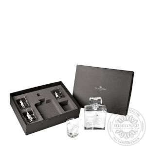 Case with Whisky Decanter and 4 Old Fashion 11,5 cm