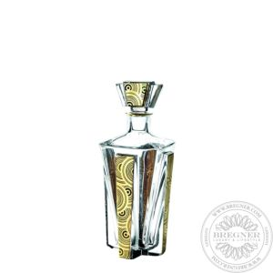 Case with Whisky Decanter with Gold 23 cm