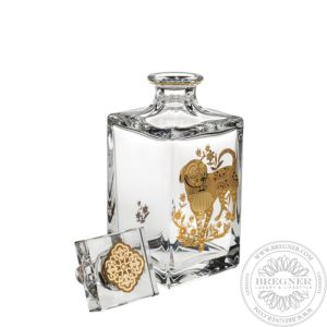 Whisky Decanter with Gold 23 cm
